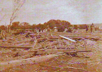 tornado damage at the Newport farm
